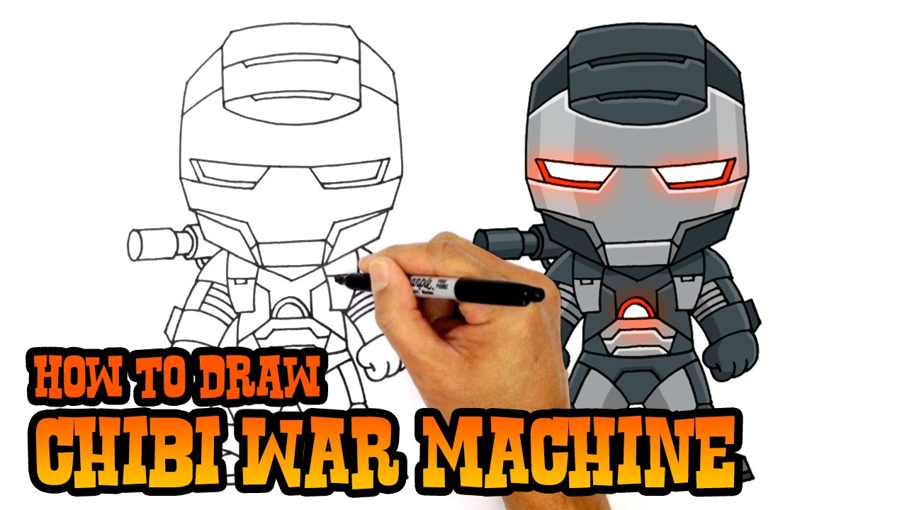How To Draw War Machine The Avengers Youtube