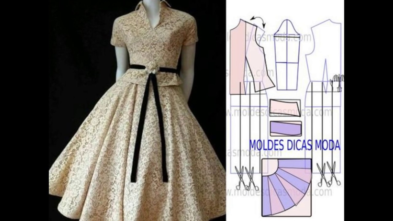 3f1be1e63 Patrones para vestidos espectaculares - YouTube