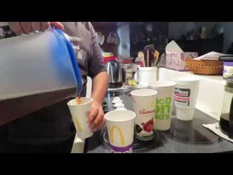 McDonalds Large VS Medium Cup