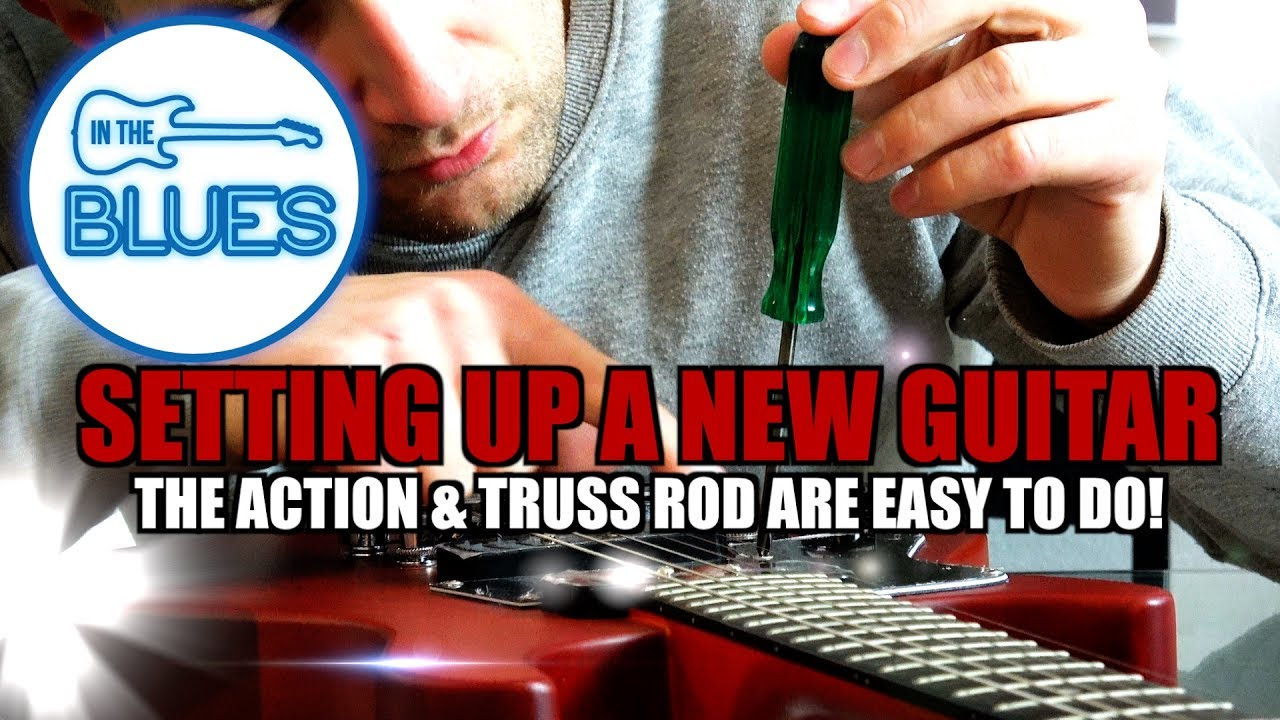 adjusting the action and truss rod on a new electric guitar youtube. Black Bedroom Furniture Sets. Home Design Ideas