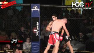 FCCTV Full Contact Contender 3 - Aaron Allerton VS Ricardo Franco SHAREFIGHT.COM