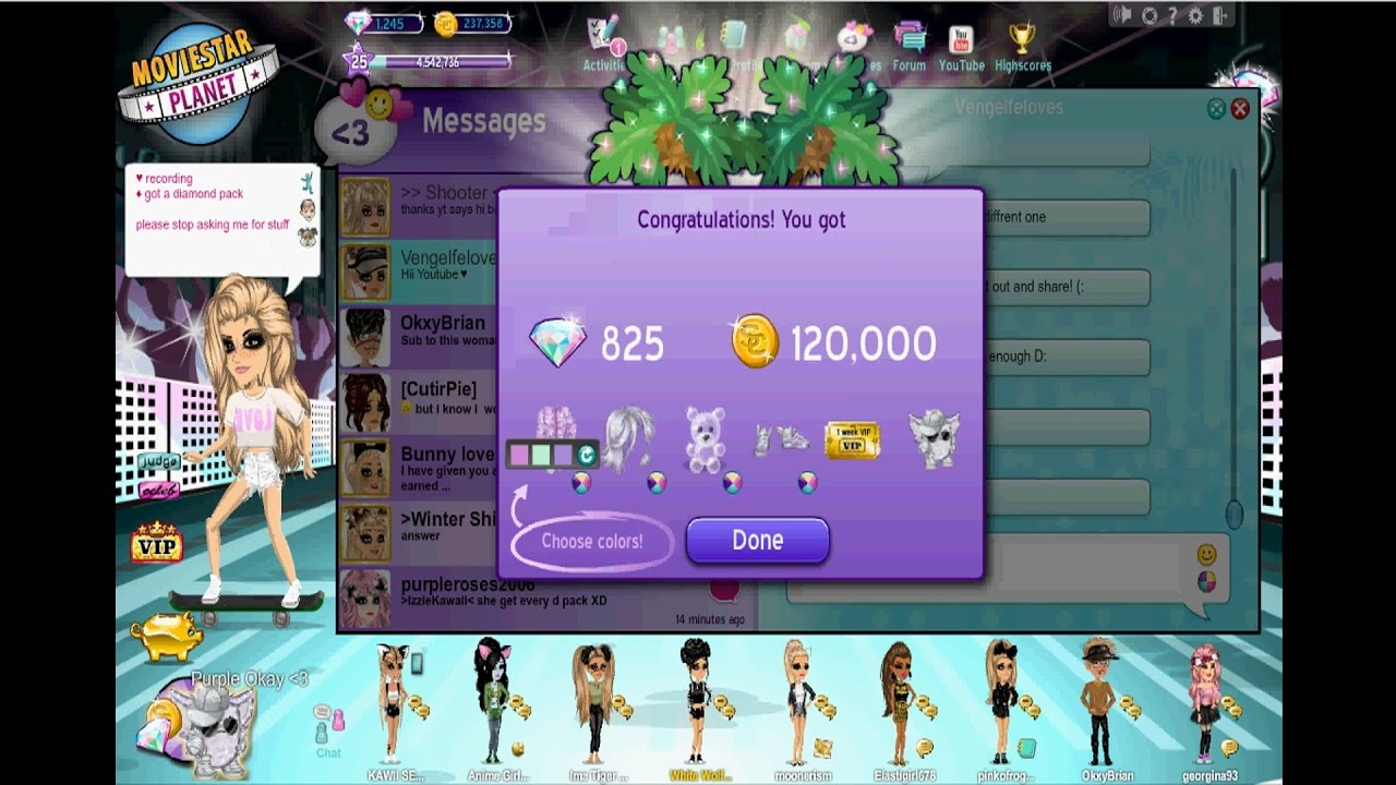 how to get a diamond pack on msp