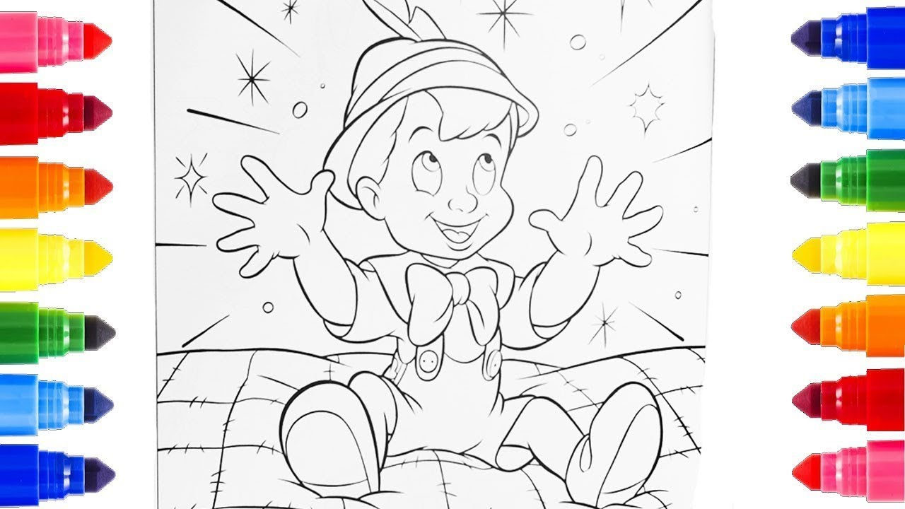 Pinocchio COLORING PAGES FOR KIDS COLORING | learn coloring for kids ...