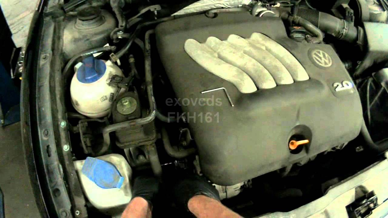 Vw 1600 Engine Diagram John Deere 317 Wiring A4 2 0l Avh Serpentine Belt Removing Youtube