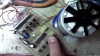 Контроллер для проверки шагового двигателя