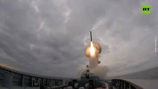 250km in 2 min: One of Russia's most advanced frigates fires Kalibr missile during drill 22