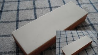 Aluminium oxide / Corundum  sharpening stone made by   ZAI - Berkovitsa(Very reasonably priced sharpening stone made by white corundum here in Bulgaria by ZAI - http://abrasive.zai-bg.com/ coarse side - 120 grit medium side - 220 ..., 2015-05-16T13:57:37.000Z)