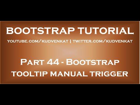 Bootstrap tooltip manual trigger