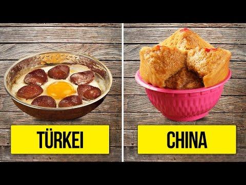 10 Arten zu Frühstücken aus aller Welt