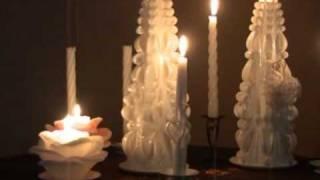 """Как выглядят свадебные свечи """"Домашний очаг""""?"""