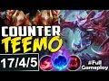 COUNTER TEEMO | INSANE MONSTER | New Runes Cho'Gath vs Teemo TOP | RANKED SEASON 8 Gameplay