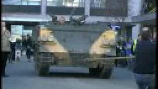 Tank Pull FV432 Armoured Personnel Carrier Vs Muscle Power