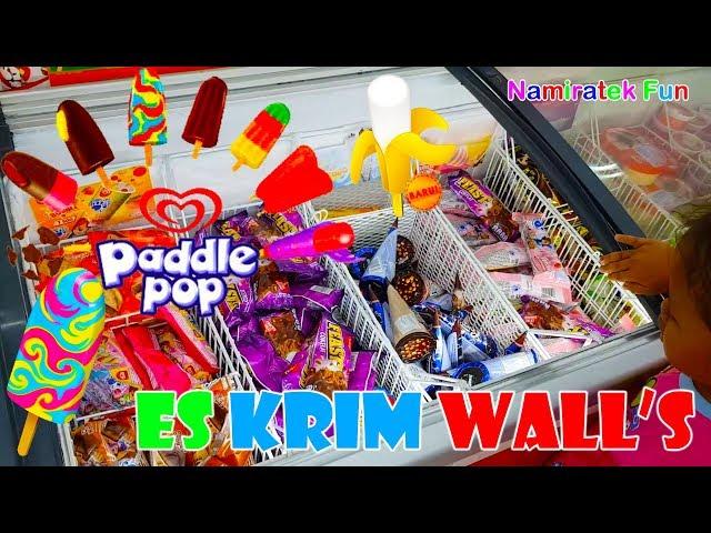 borong banyak es krim & pesta es krim nyobain icip icip Es Cream Walls Paddle Pop Indonesia