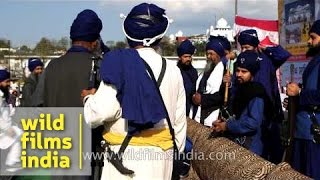 Nihang warriors at International Gatka Festival, Punjab