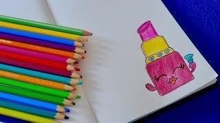 Как рисовать Shopkins Lippy Lips шаг за шагом. Оформление личного Дневника.