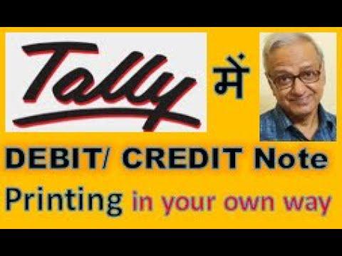 06 Debit Credit Note Printing - YouTube