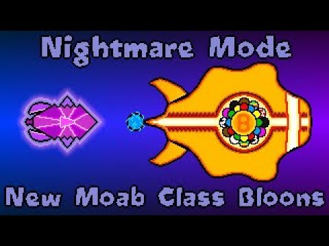 New Moab Class Bloons! Bloons TDX Nightmare Mode Waves 36-50