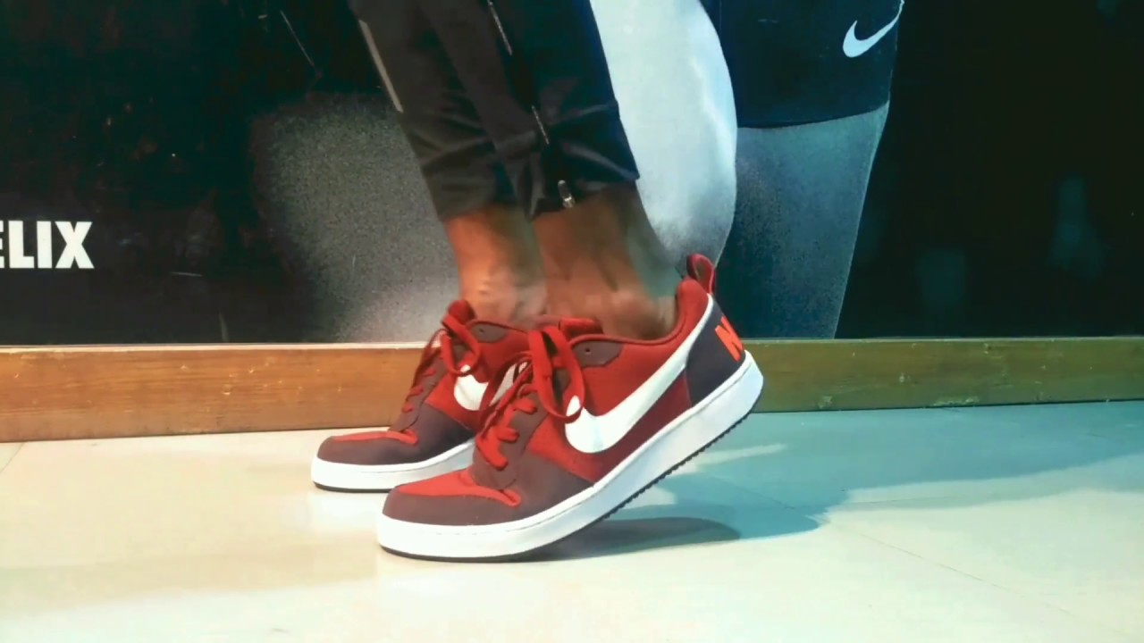 online store ed656 3898a Nike Court Borough low maroon sneaker   review+ onfeet hindi