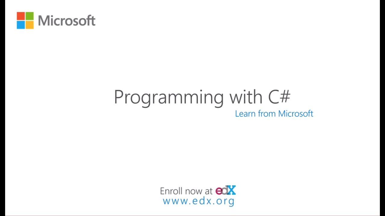 Programming With C Microsoft On Edx Course About Video Youtube