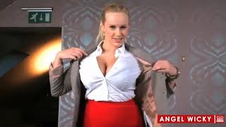 Angel Wicky Shows Her Assets To A Man