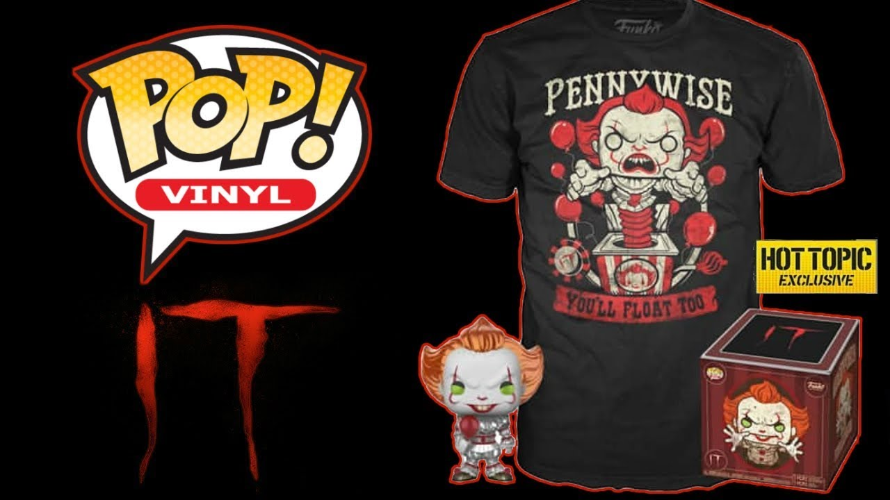 IT Pennywise Box Hot Topic exclusive // Pop T-Shirt Metallic Funko Pop