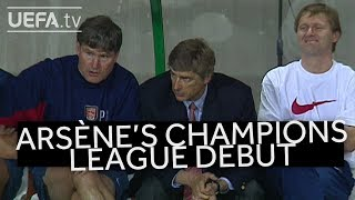 Wenger champions league debut