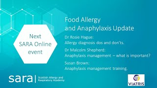 SARA - Food Allergy and Anaphylaxis Update