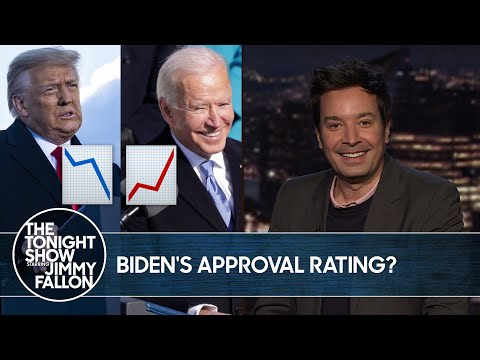 Biden's Approval Rating Is Higher Than Trump's Ever Was | The Tonight Show