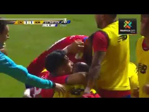 Costa Rica 1  Honduras 1 - Gol de Kendall Waston - Último Minuto