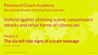 The six tell-tale signs of a phishing scam - what is phishing? – Password Coach
