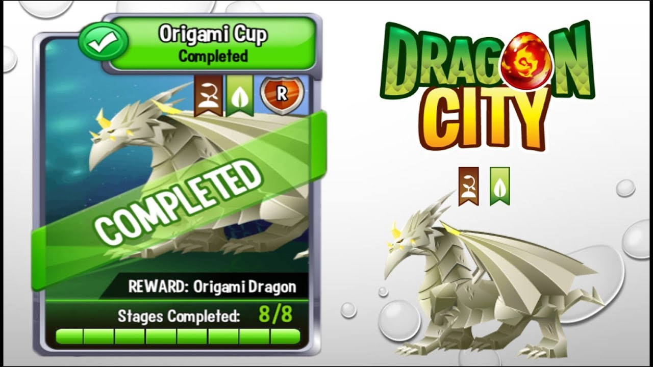 Dragon City Origami Cup Full Unlock 2015 Youtube