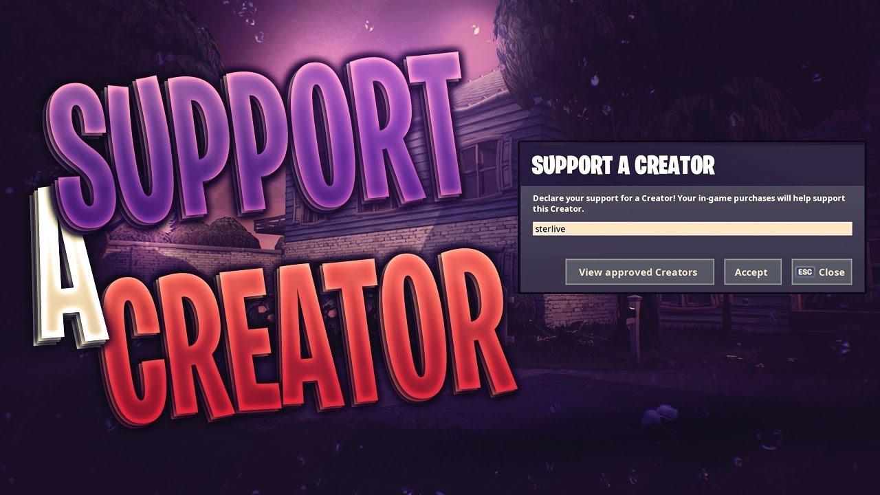 Fortnite Support A Creator Codes For Skins - Fortnite ...