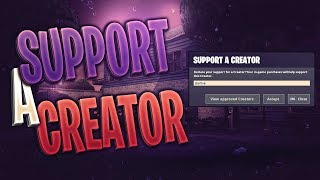 Support-A-Creator Event! Code: SterLive (Fortnite Battle Royale)