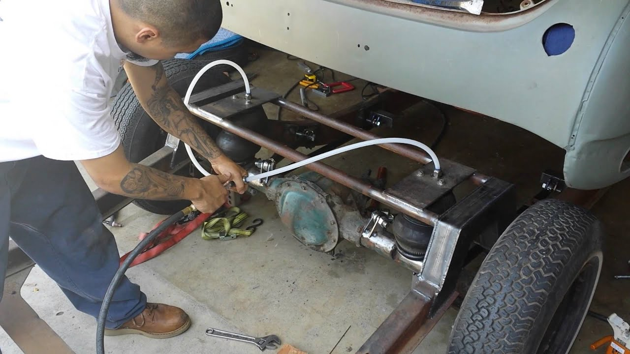 1950 Chevy Deluxe Step Notch And Bagged 4 Link Youtube