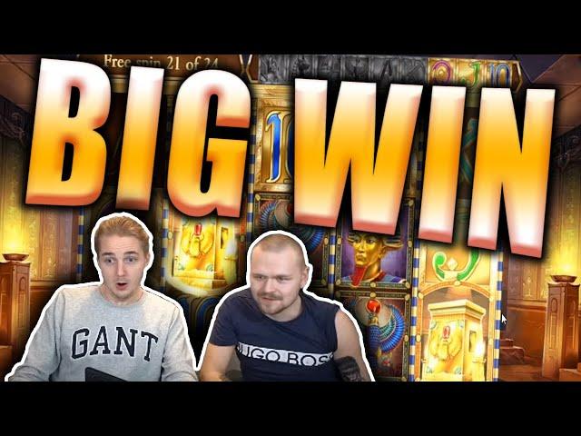BIG WIN on LEGACY OF DEAD Slot - Double Bonus