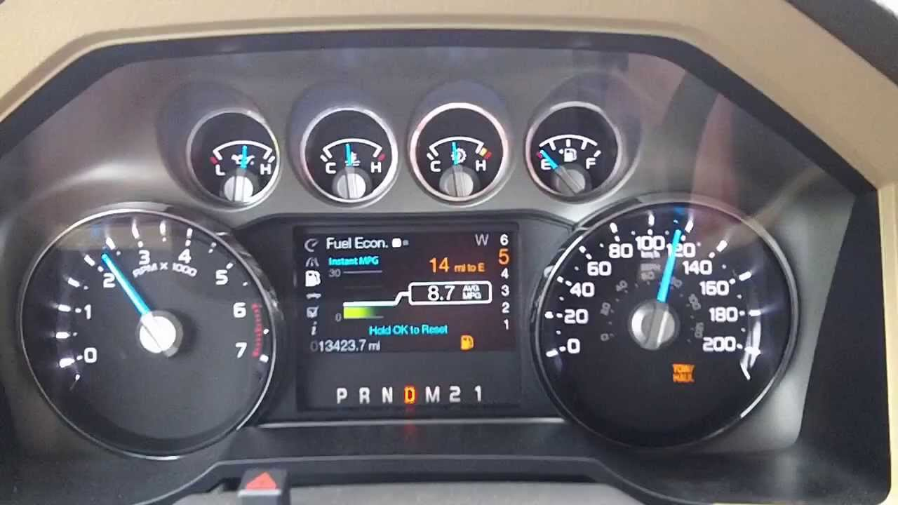 2012 ford f250 6 2 l 4x4 running on empty tow mode youtube. Black Bedroom Furniture Sets. Home Design Ideas