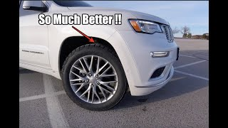 New Tires for the Jeep Grand Cherokee Summit !