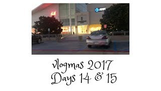 VLOGMAS 2017 | DAYS 14 & 15: MALL SHENANIGANS!