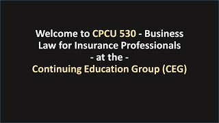 welcome to cpcu 530