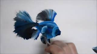 One Stroke fish painting