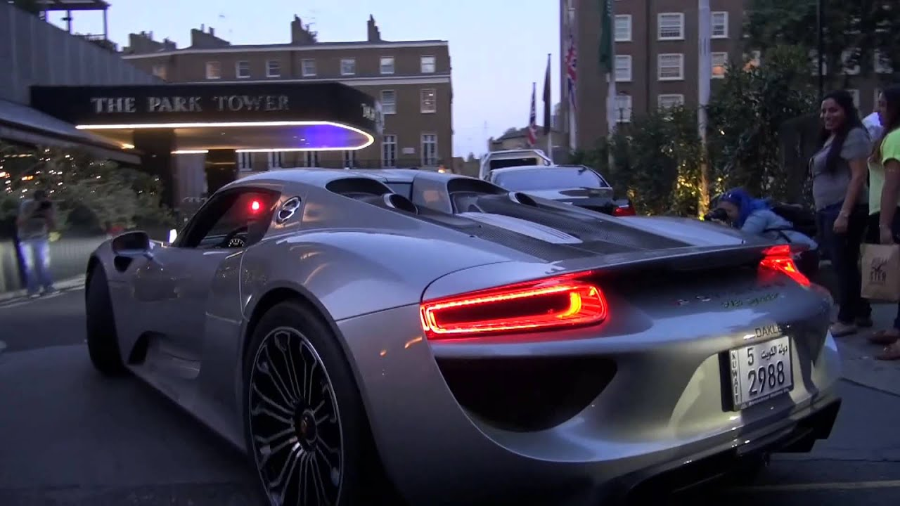 arab porsche 918 spyder driving in london youtube #0: maxresdefault