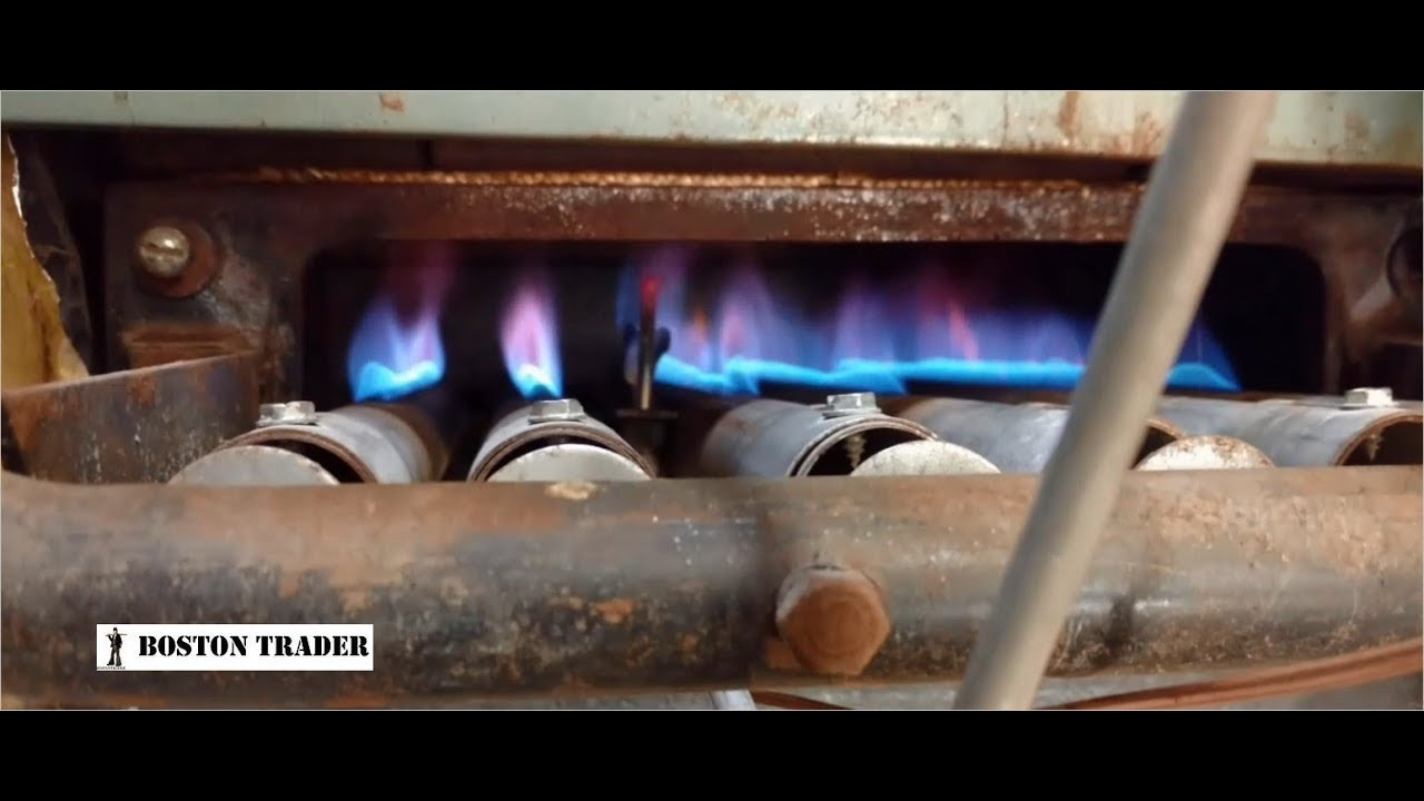 lighting an old peerless boiler for winter [ 1280 x 720 Pixel ]