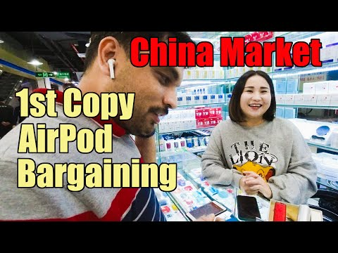 1st-copy-air-pod-bargaining-|-shenzhen-electronic-market-|-china