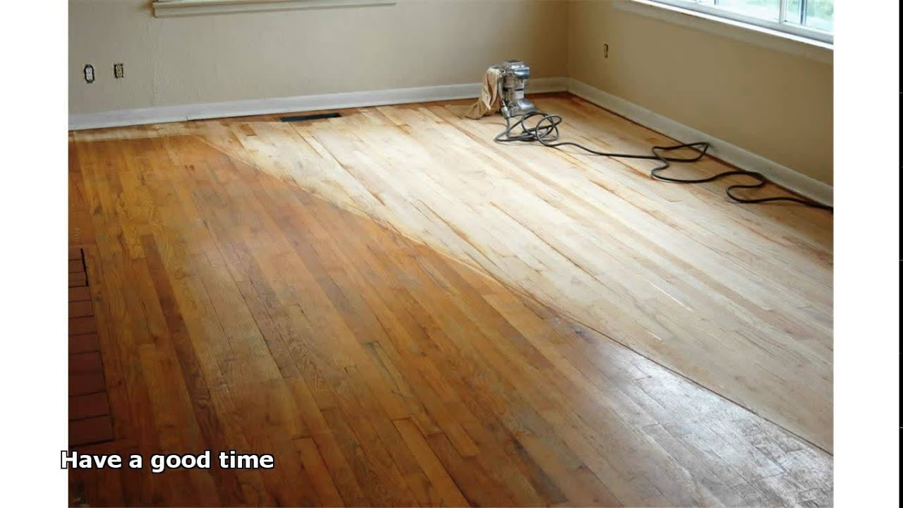 Sanding Hardwood Floors Youtube
