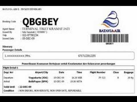 Cara Cek Dan Cetak Tiket Pesawat Pake Kode Booking