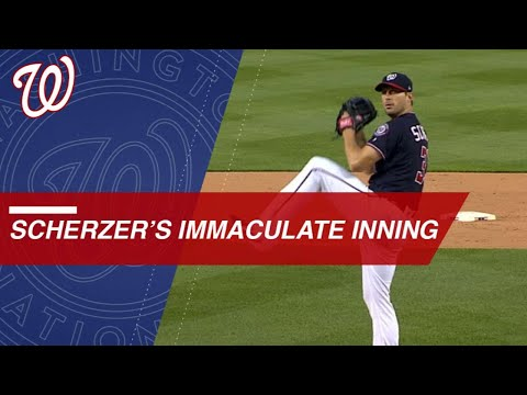 Scherzer hurls immaculate 6th inning vs. Rays in D.C.