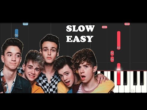 Why Don't We - 8 Letters (SLOW EASY PIANO TUTORIAL)