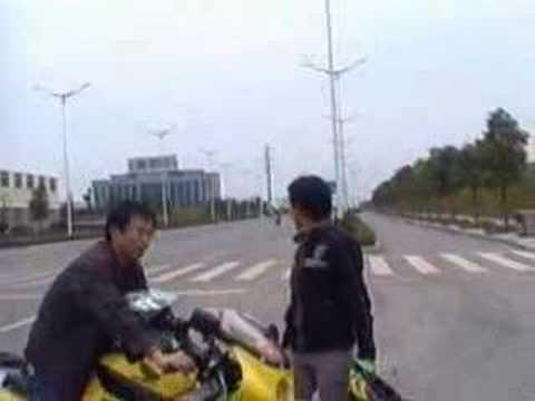 Riding Suzuki 750 cc In Zhuzhou