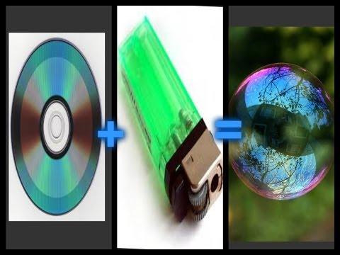 experimento casero - burbujas con un dvd (disco)