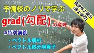 【ベクトル解析】grad(勾配)の意味【特別講義】